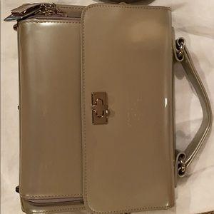 Beijo Handbag clutch and shoulder platinum